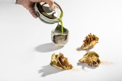 1-tea-of-mantis-shrimp-and-leaves-of-artichoke-from-la-vega-baja_te-denso-de-galeras-y-hojas-de-alcachofa-de-la-vega-baja-quique-dacosta-2016-pelut-i-pelat